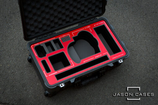 c100 case with red overlay