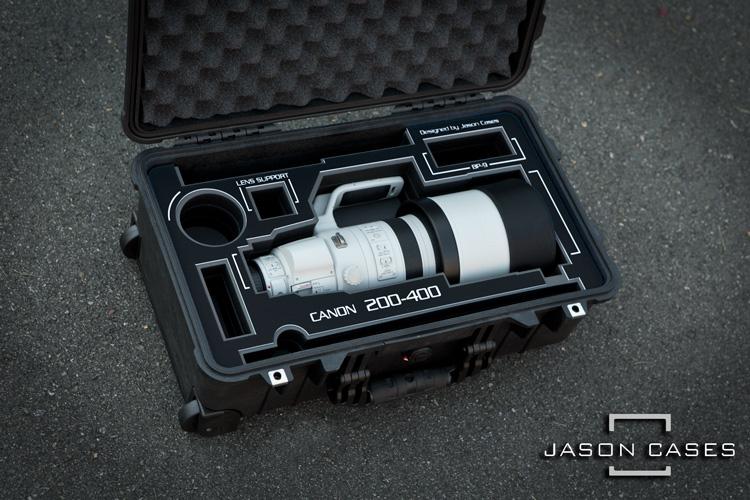 canon 200 400mm lens case with black overlay jason cases. Black Bedroom Furniture Sets. Home Design Ideas